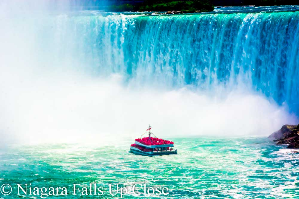 Maid at base of Horseshoe Falls