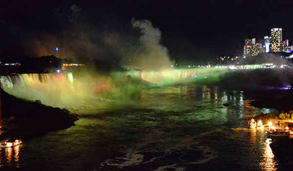 Illuminated Niagara Falls