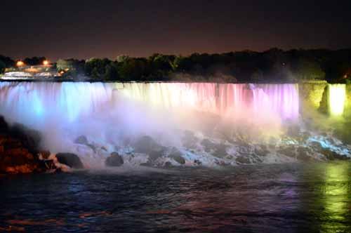Illuminated American Falls
