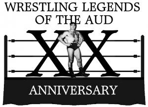Wrestling Legends of the Aud Logo